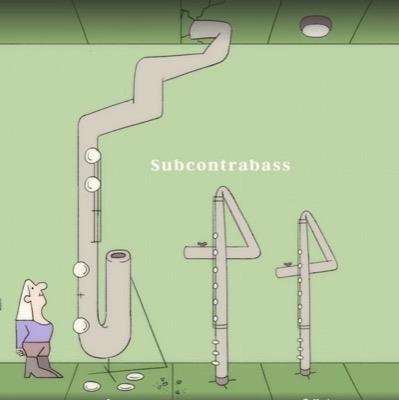 Cartoon Bassflöte